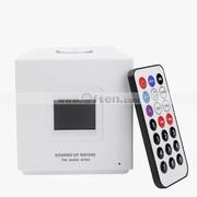 Free Shipping:2GB MP3 Musical Alarm Clock Remote control FM Speaker