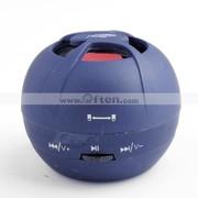 Egg Tart Mini Portable TF Card Speaker Travel Speaker-blue
