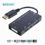 Top Deals Displayport DP Male To DVI HDMI VGA Audio Female Adapter